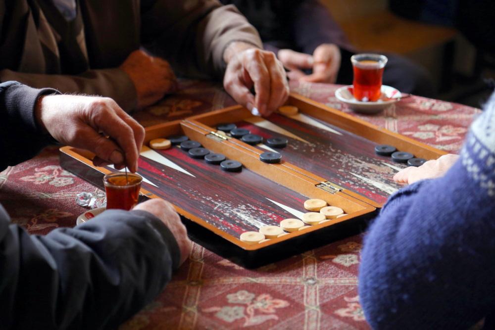 Tavla Turkish Backgammon board