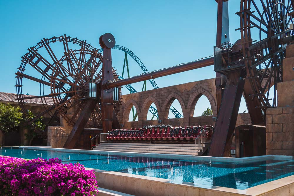 The Land of Legends Theme Adventure Park Roller Coaster in Turkey
