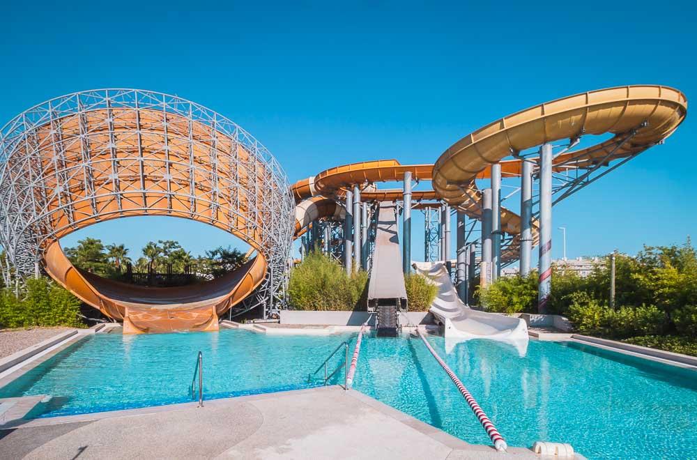 The Land of Legends Theme Aquapark Slide in Turkey
