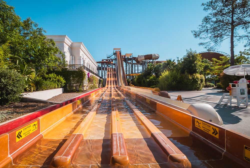 The Land of Legends Theme Aquapark Slides in Turkey