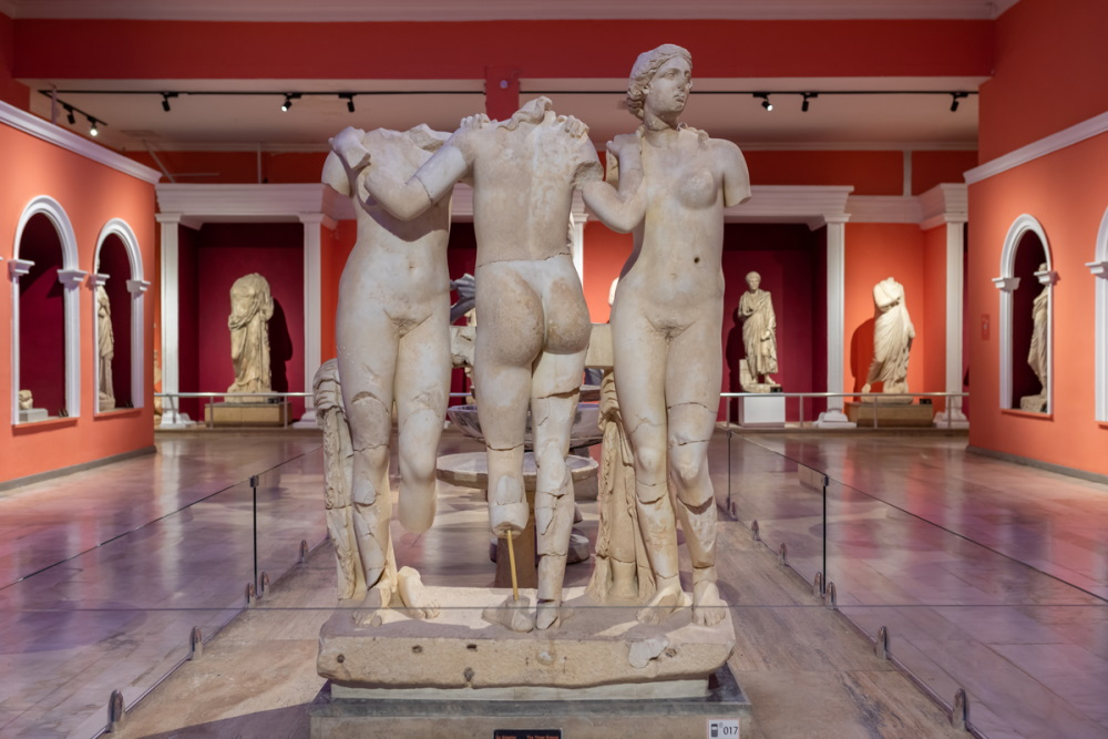 Three Graces Statue in Antalya Archeological Museum (Editorial)