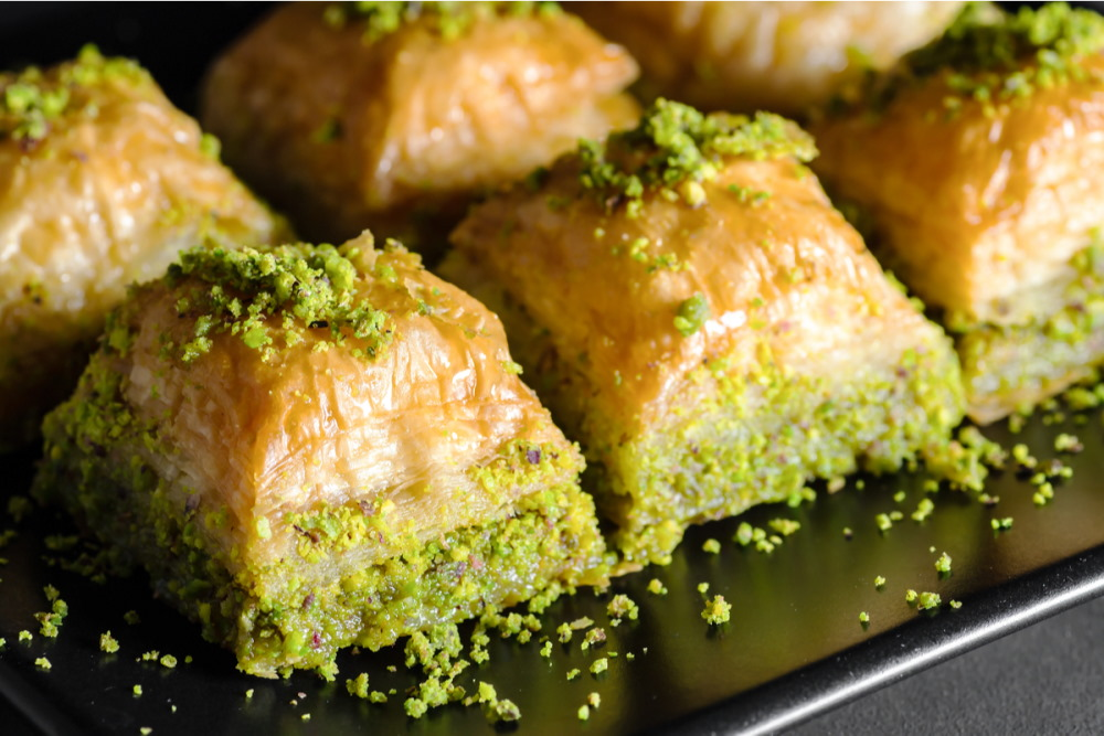 Traditional turkish dessert antep baklava
