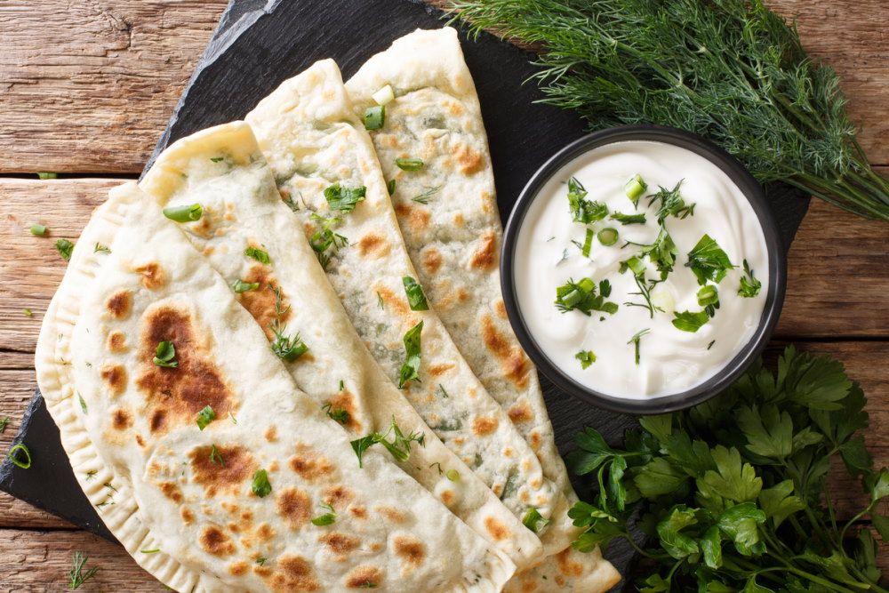 Typical Turkish meal Gozleme