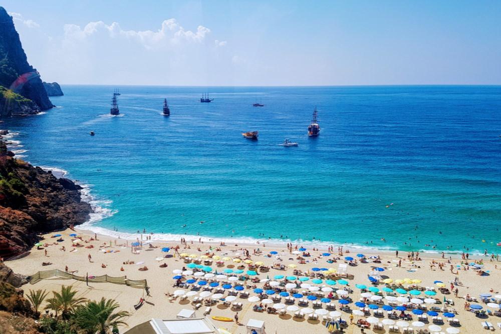 Visit a Beach in Antalya in Turkey