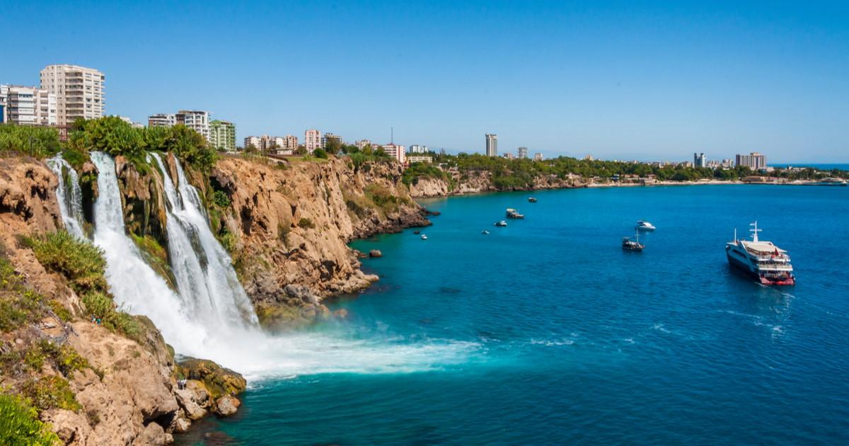 Waterfalls in Antalya in Turkey
