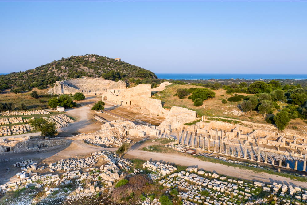 Aerial View of Patara Ancient Site in Antalya in Turkey
