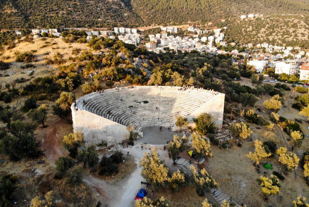 Hellenistic theater in Antiphellos in Kas in Antalya in Turkey