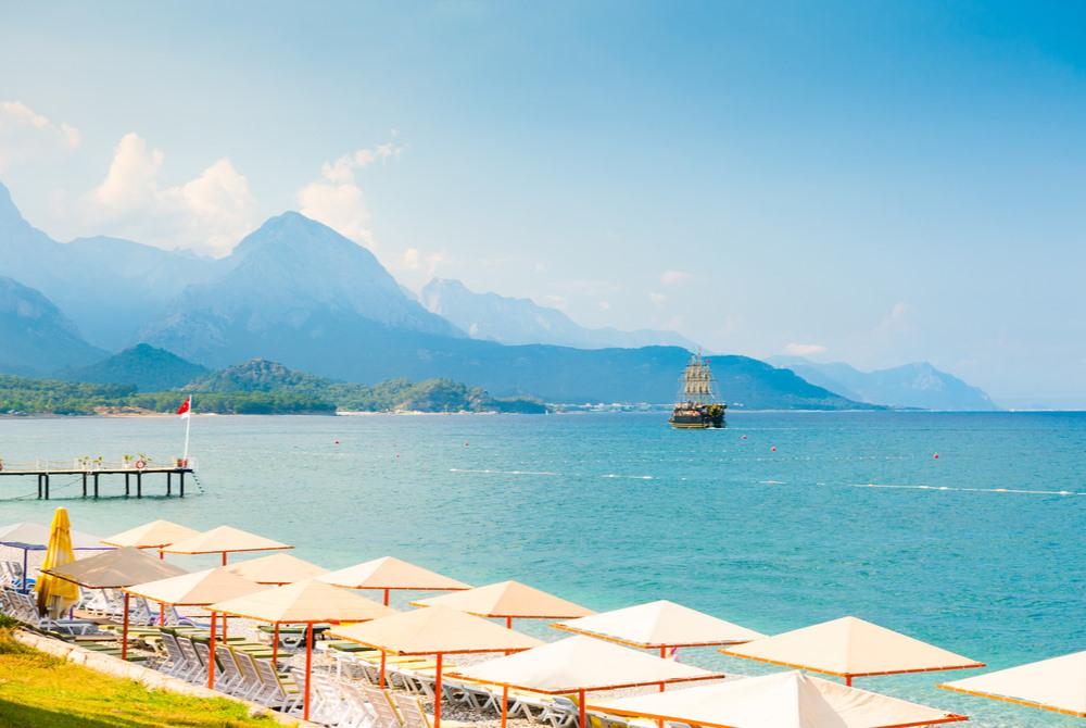 beach resort in kemer in antalya in turkey