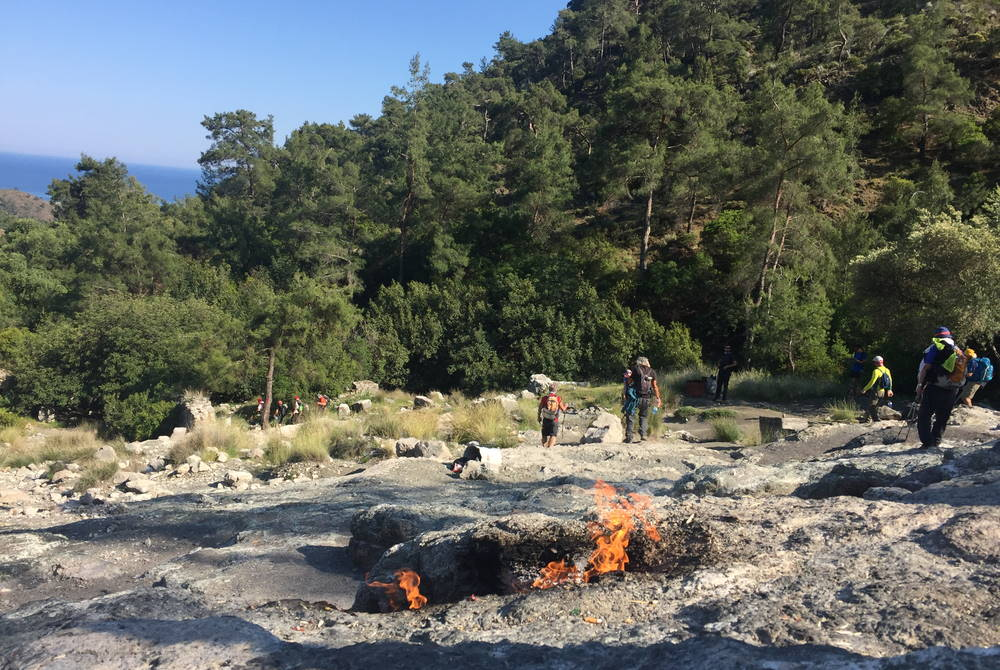 çıralı yanartas in Antalya in Turkey