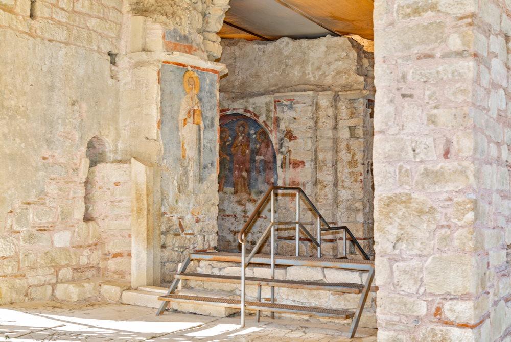 Entrance of St Nicholaos Church in Demre in Antalya in Turkey