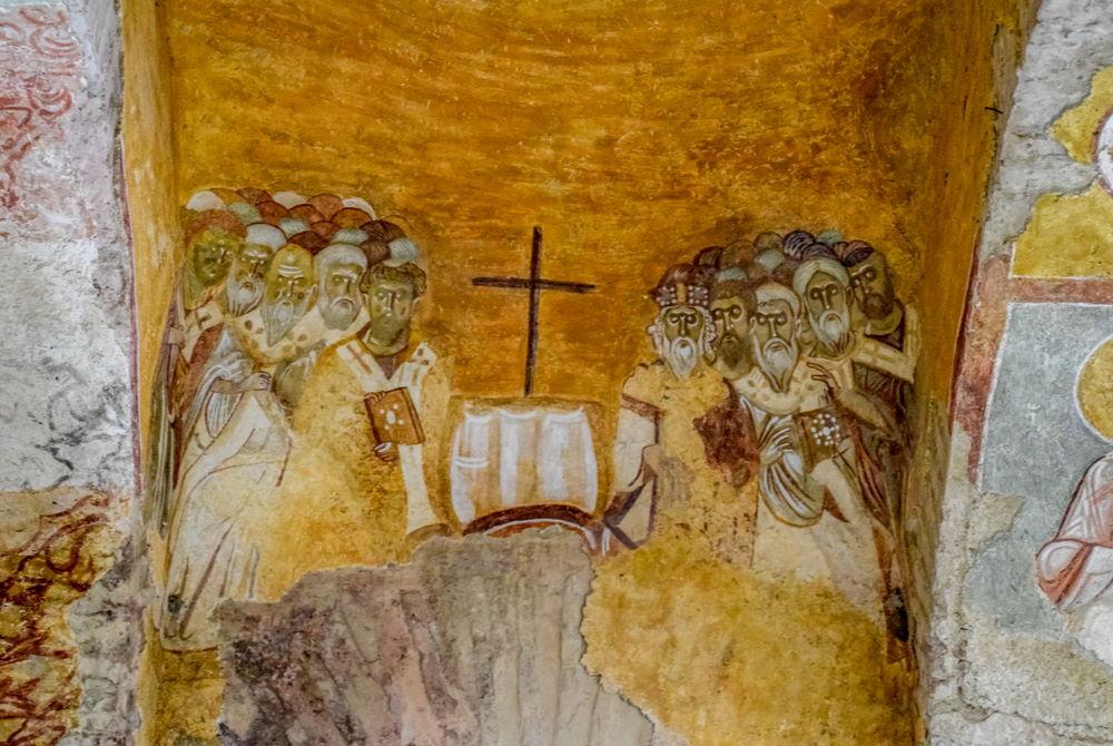 Frescoes in St Nicholaos Church in Demre in Antalya in Turkey