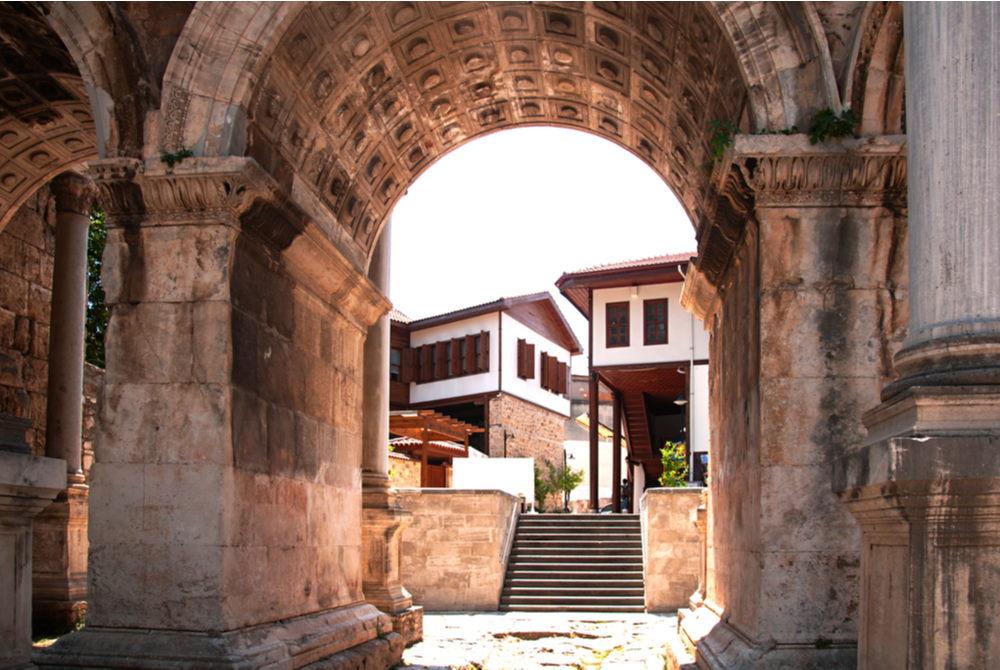 Hadrians Gate Kaleici in Antalya in Turkey