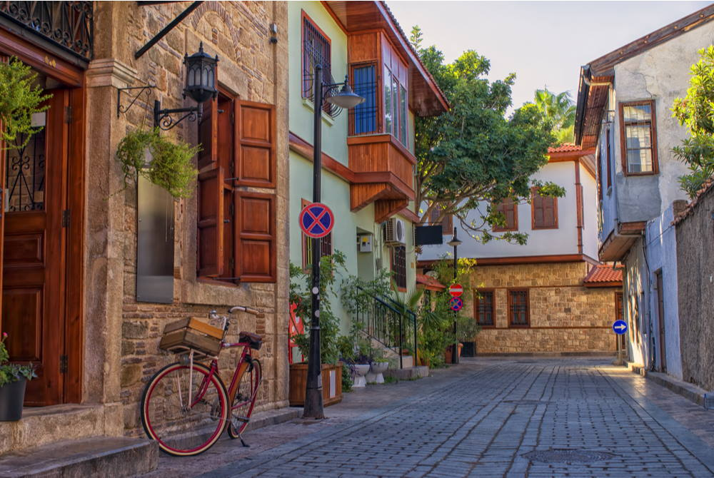 kaleici houses in antalya in turkey