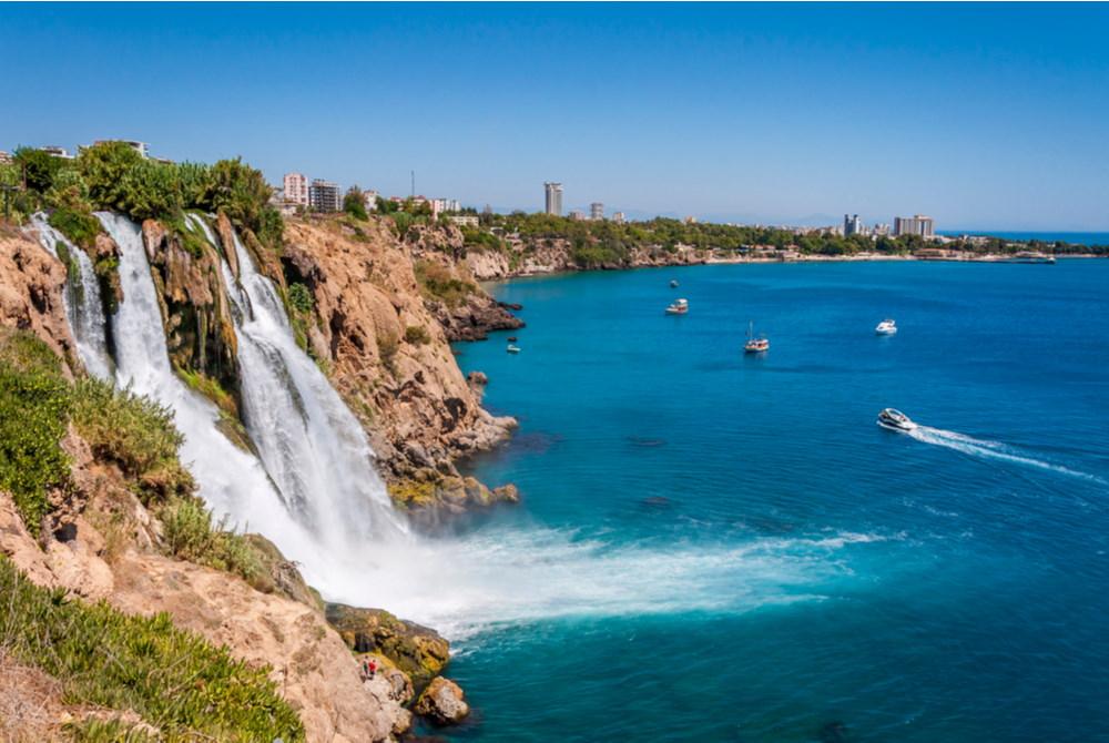 karpuzkaldiran waterfall in Antalya in Turkey
