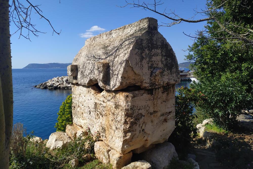 Lycian Tomb Antiphellos in Kas in Antalya in Turkey