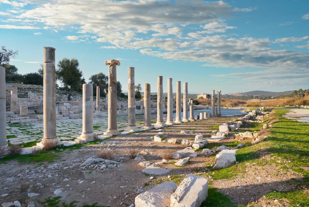 Patara Ancient Site Ruins in Antalya in Turkey