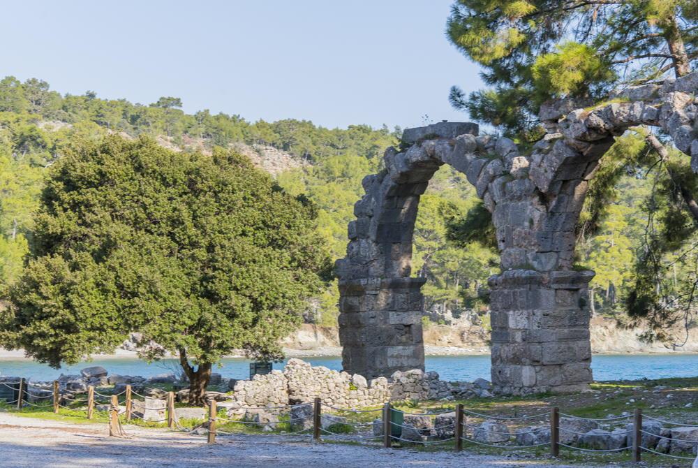 phaselis ruins in antalya in turkey