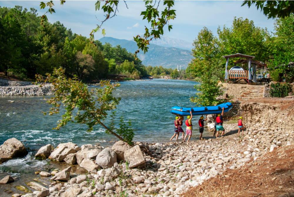 rafting at Koprulu Kanyon in Antalya in Turkey