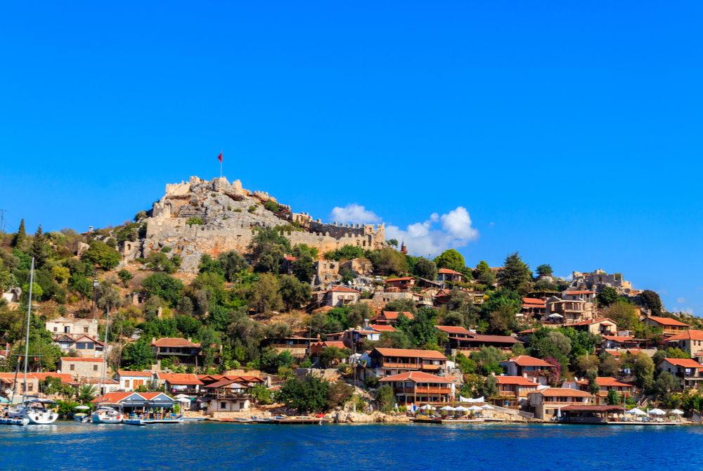 Simena Castle in Antalya in Turkey