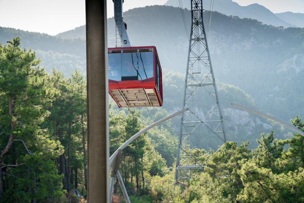 tahtali cable car in antalya in turkey