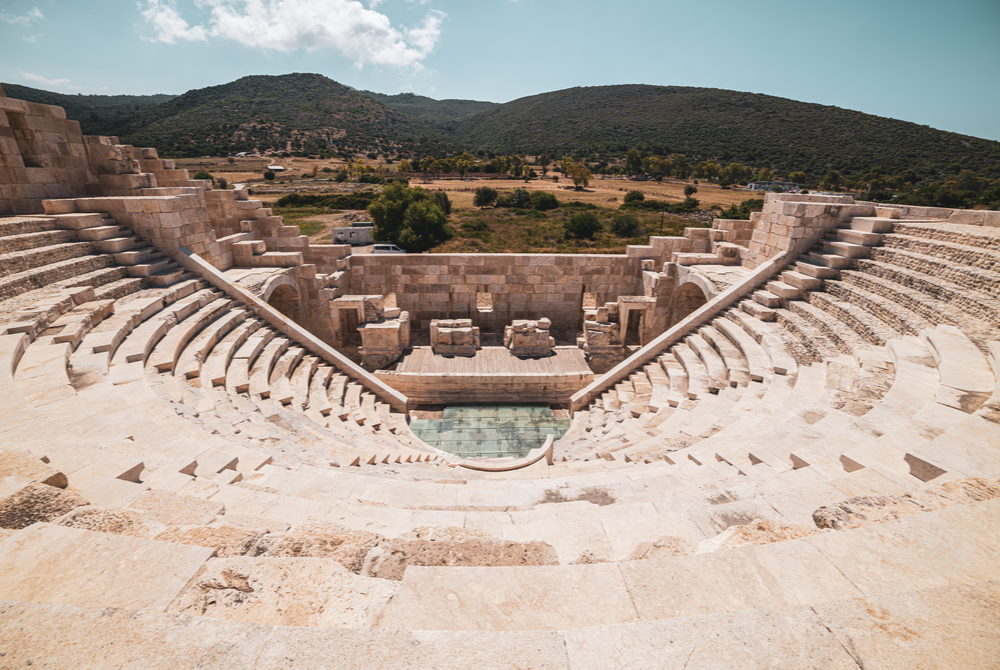 Theater at Patara Ancient Site in Antalya in Turkey