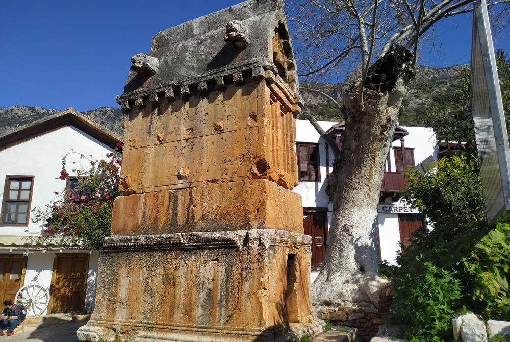 Tomb in Kas Center in Antalya in Turkey