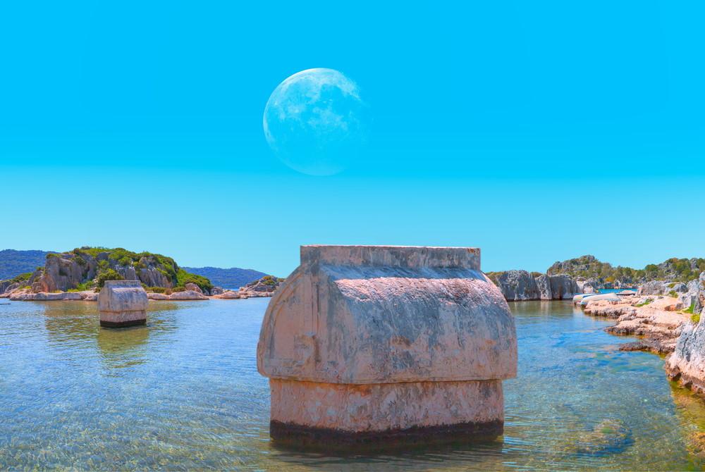 Tombs at Simena in Antalya in Turkey