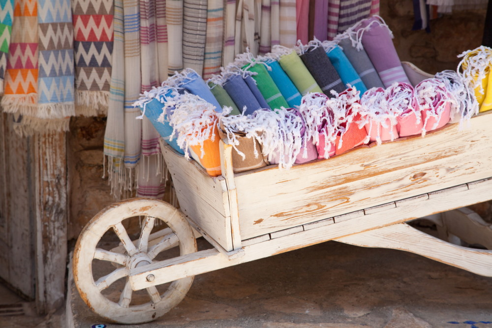 traditional natural cotton turkish hammam towels
