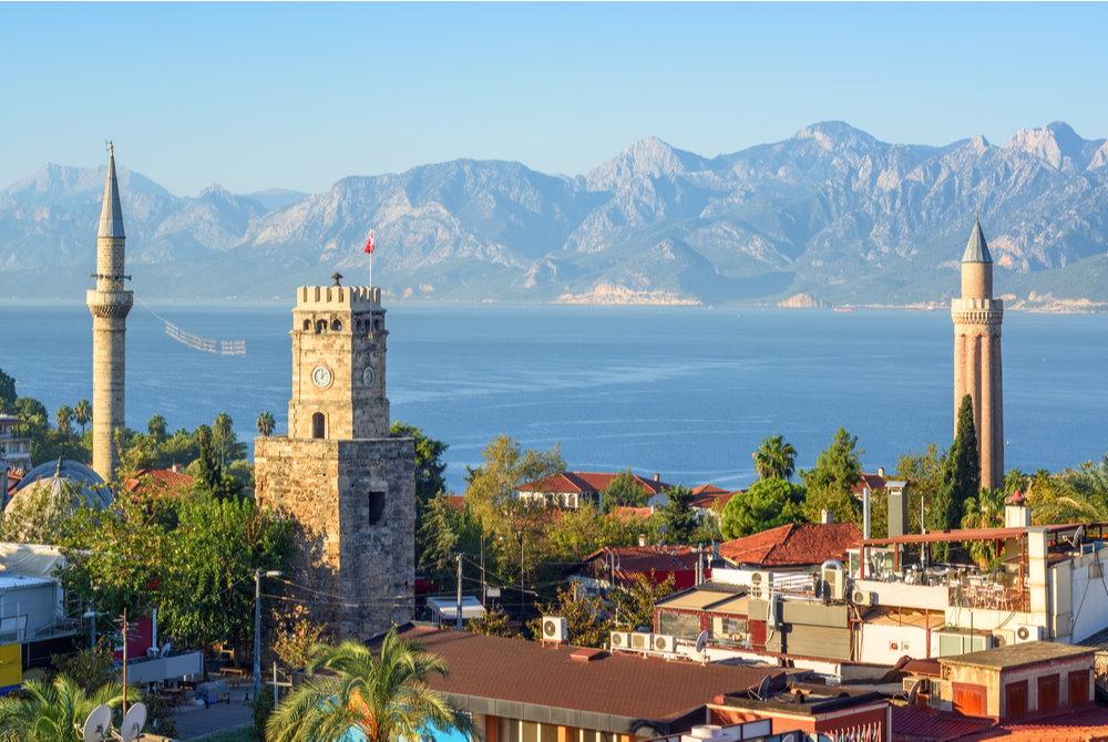 yivli minaret in antalya in Turkey