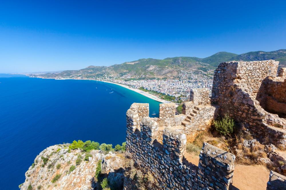 Alanya Castle in Antalya in Turkey