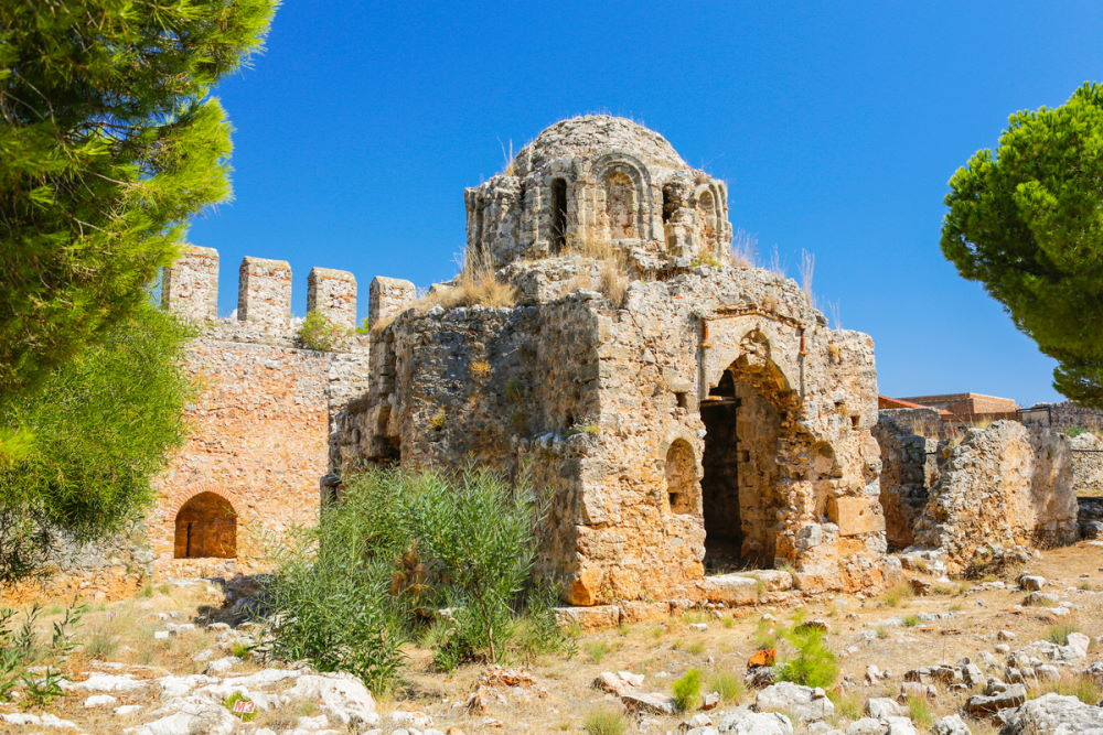 Alanya castle ruins in Antalya in Turkey