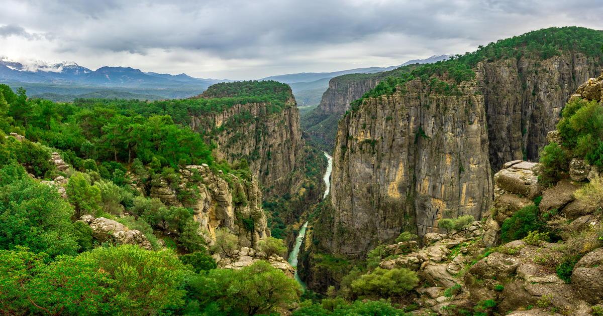 Amazing Tazi Canyon in Manavgat in Antalya, Turkey