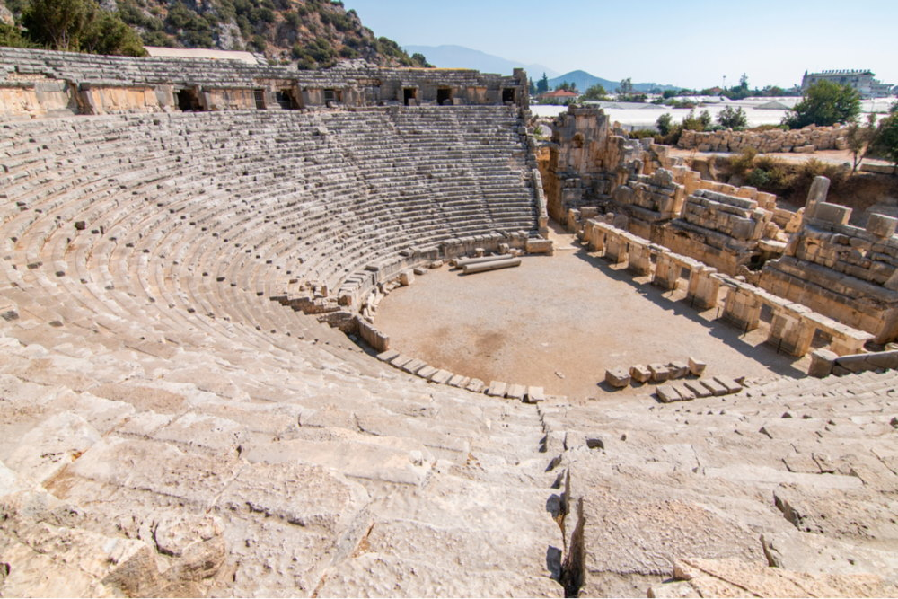 Ancient Greco-Roman amphitheatre of Myra in Antalya in Turkey