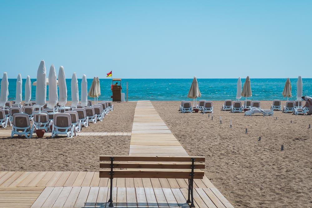 Antalya Lara Beach at Trendy Hotel Turkey