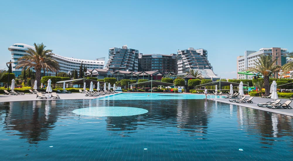 Beach at Limak Lara Hotel in Antalya Turkey