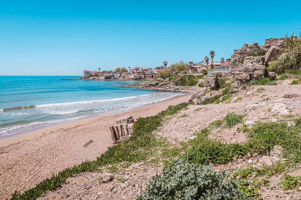 Beach in Side in Turkey in Antalya