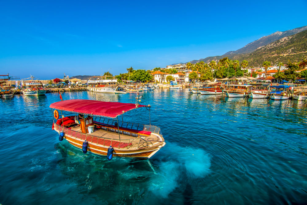 Boat Cruise to the Islands in Antalya in Turkey