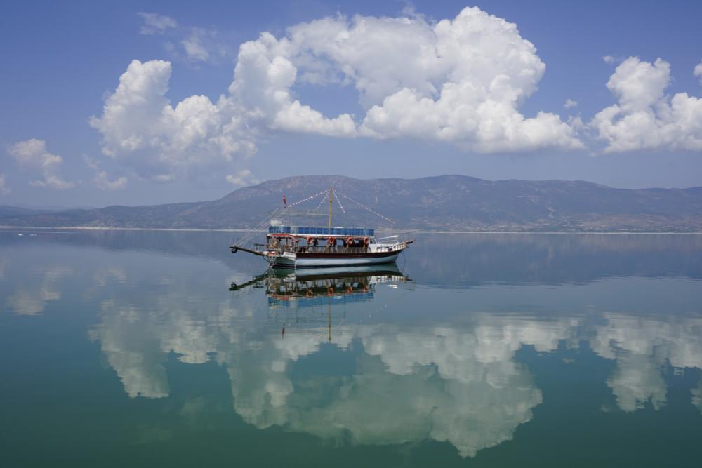 Burdur Lake in Antalya in Turkey