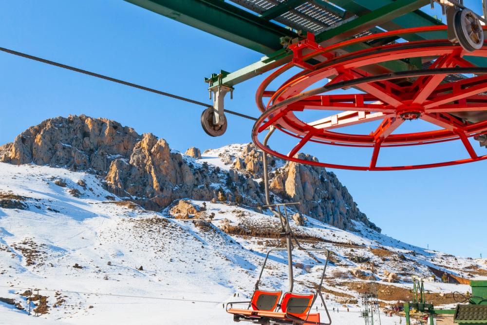 Charilifts and T-Bar-Skilifts in Saklikent Antalya
