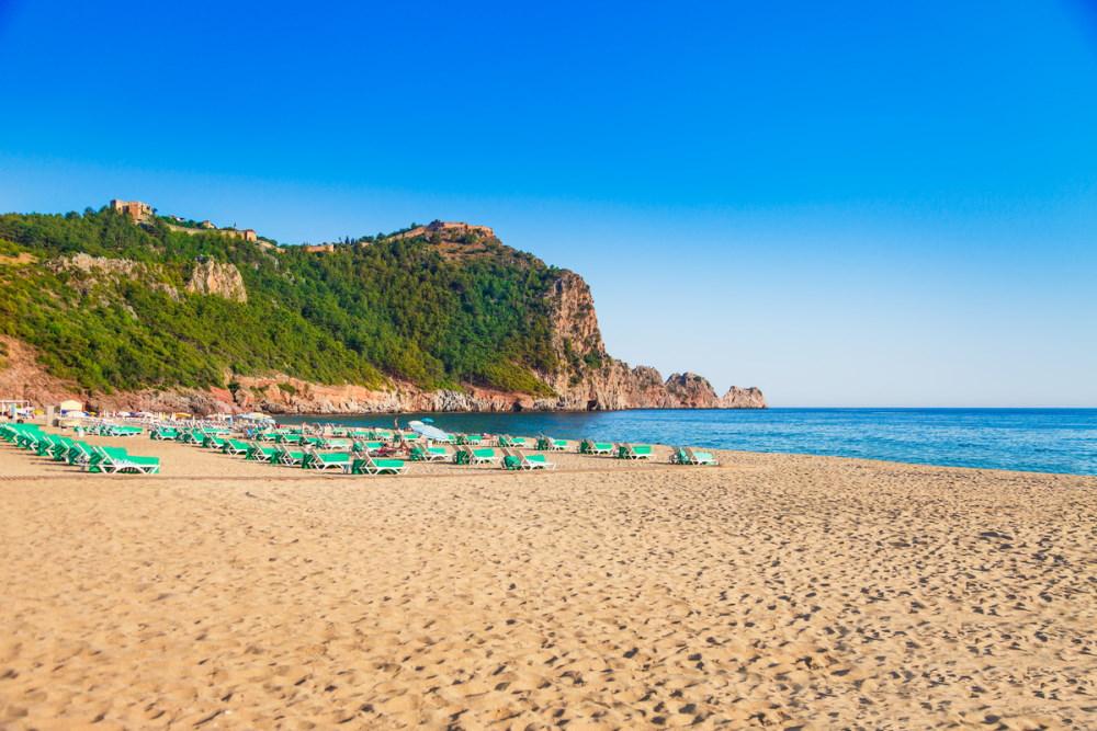 Cleopatra Beach in Alanya in Turkey