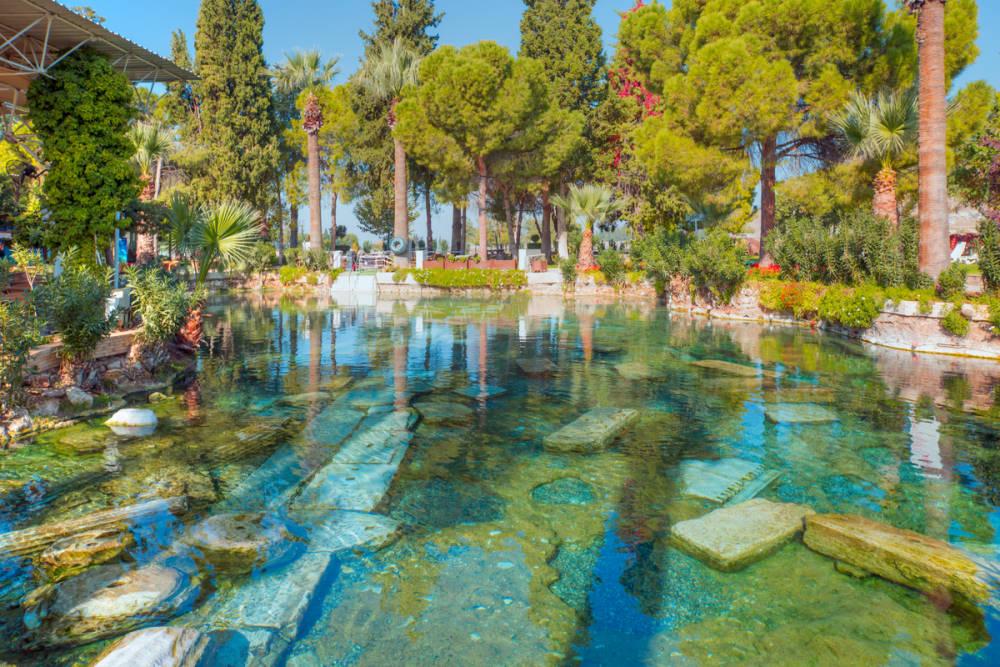 Cleopatra Pool in Pamukkale in Turkey