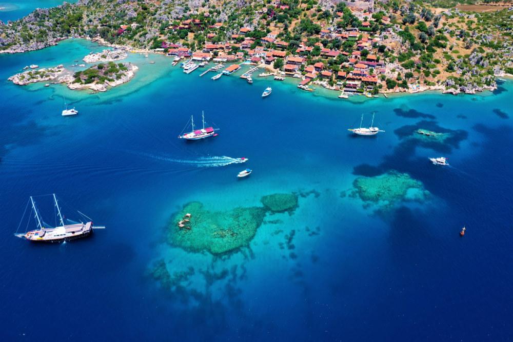 Cruise to Kekova Island in Antalya in Turkey