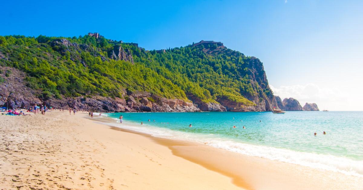 Damlataş Beach in Alanya in Turkey