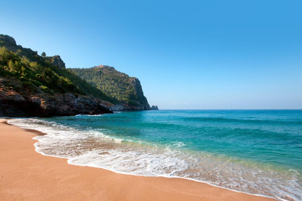 Damlatas Beach in Antalya in Turkey