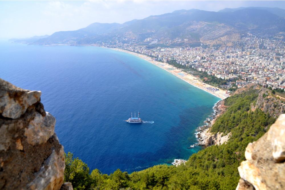 Damlataş Beach in Antalya in Turkey