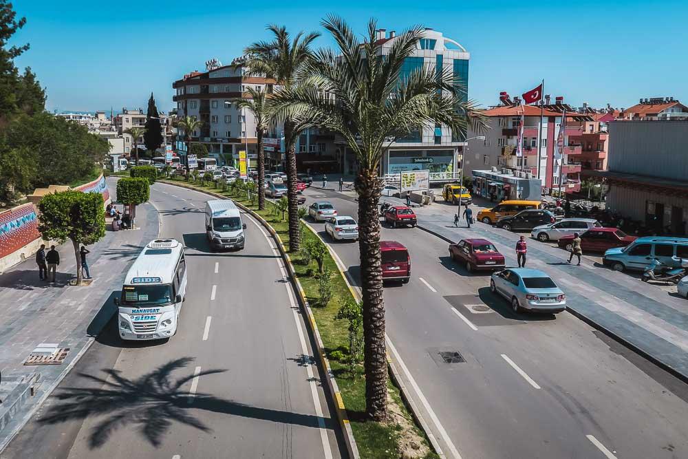 Dolmus Bus in Antalya in Turkey