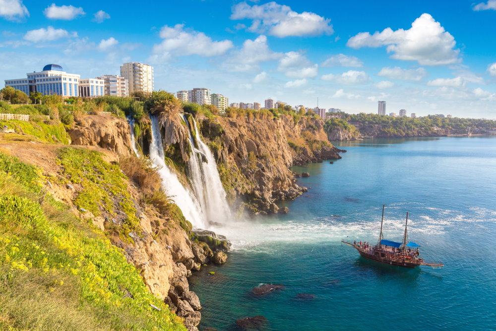 Duden waterfall in Antalya in Turkey