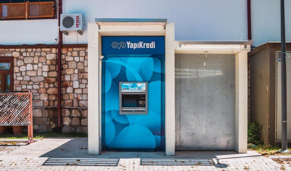 ATM in Side in Antalya Turkey