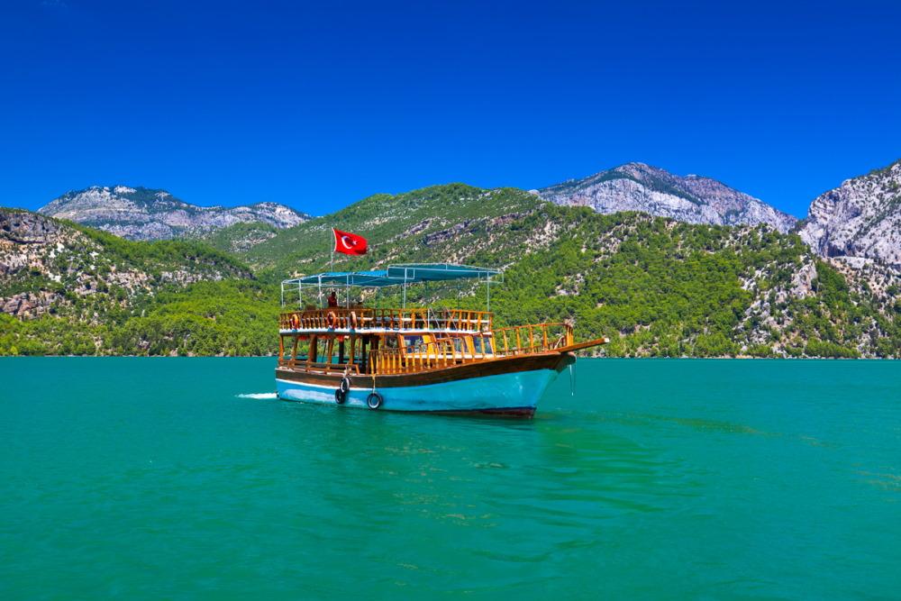 Green Canyon Cruise in Antalya in Turkey