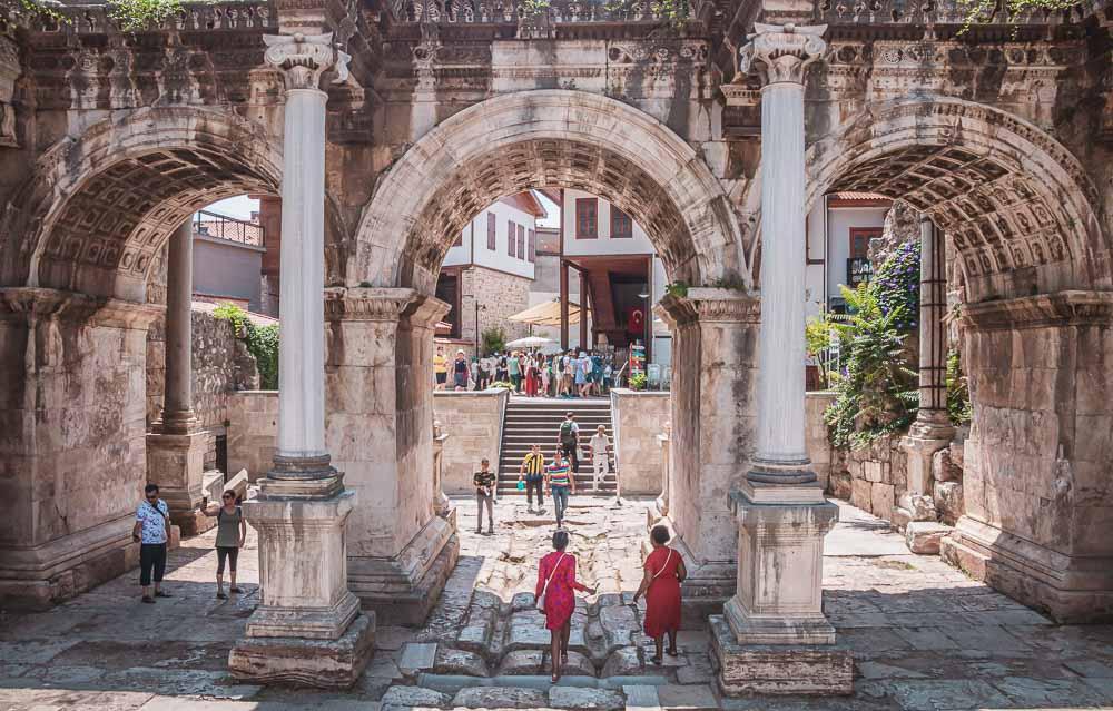 Hadrians Gate in Antalya Kaleici in Turkey